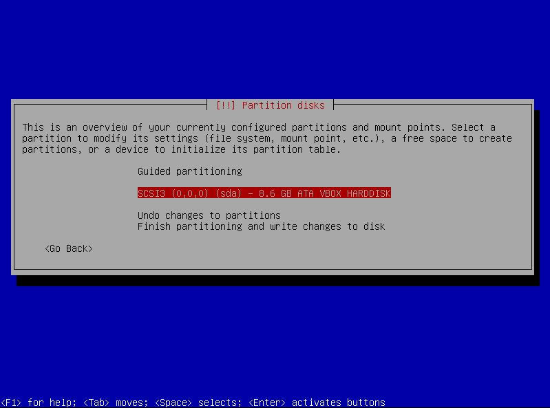 13a partition setup manual