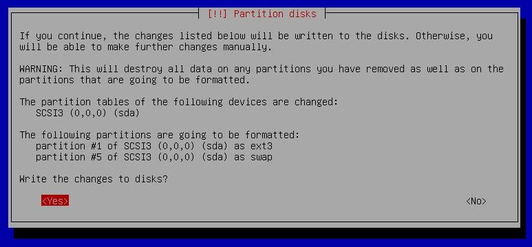 13c partition setup automaticaly