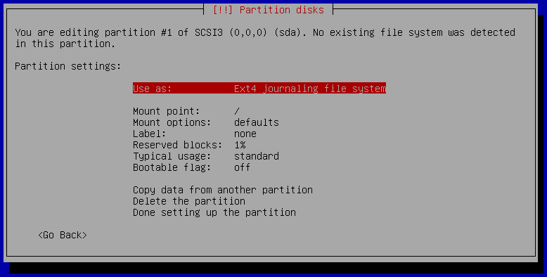 13h partition setup manual
