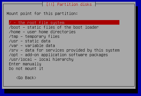 13k partiotion setup manual